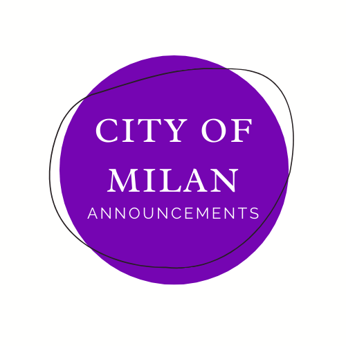 City of Milan Announcements: